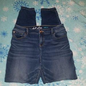 Inc denim jeans regular fit skinny leg
